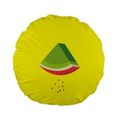 Fruit Melon Sweet Yellow Green White Red Standard 15  Premium Flano Round Cushions by Alisyart