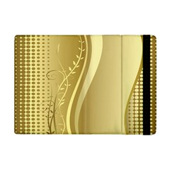 Golden Wave Floral Leaf Circle Ipad Mini 2 Flip Cases by Alisyart
