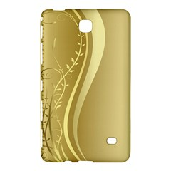 Golden Wave Floral Leaf Circle Samsung Galaxy Tab 4 (7 ) Hardshell Case  by Alisyart