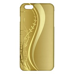 Golden Wave Floral Leaf Circle Iphone 6 Plus/6s Plus Tpu Case by Alisyart