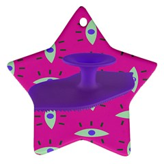 Eye Purple Pink Star Ornament (two Sides) by Alisyart