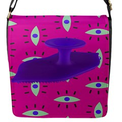 Eye Purple Pink Flap Messenger Bag (s) by Alisyart