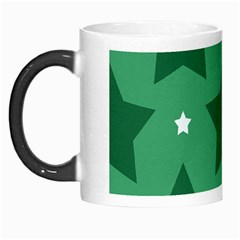 Green White Star Morph Mugs by Alisyart