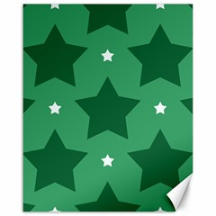 Green White Star Canvas 16  X 20   by Alisyart