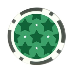 Green White Star Poker Chip Card Guard (10 Pack) by Alisyart