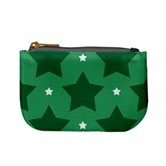 Green White Star Mini Coin Purses