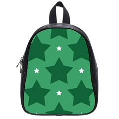 Green White Star School Bags (small)  by Alisyart
