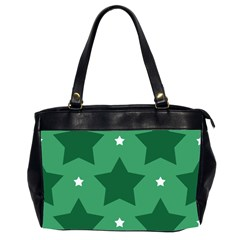 Green White Star Office Handbags (2 Sides)  by Alisyart