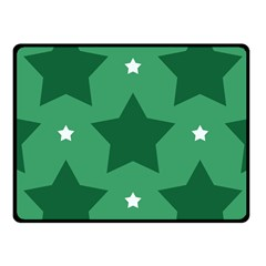 Green White Star Fleece Blanket (small) by Alisyart