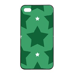 Green White Star Apple Iphone 4/4s Seamless Case (black) by Alisyart