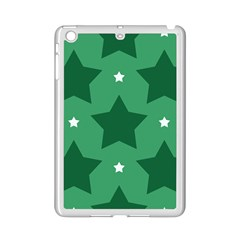 Green White Star Ipad Mini 2 Enamel Coated Cases
