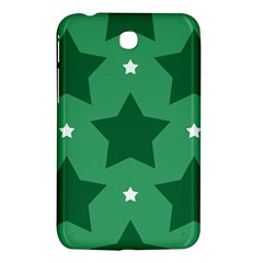 Green White Star Samsung Galaxy Tab 3 (7 ) P3200 Hardshell Case  by Alisyart