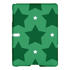 Green White Star Samsung Galaxy Tab S (10 5 ) Hardshell Case  by Alisyart