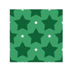 Green White Star Small Satin Scarf (square) by Alisyart