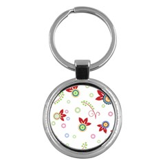Floral Flower Rose Star Key Chains (round)  by Alisyart