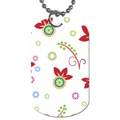 Floral Flower Rose Star Dog Tag (one Side) by Alisyart
