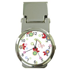 Floral Flower Rose Star Money Clip Watches
