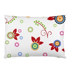 Floral Flower Rose Star Pillow Case by Alisyart