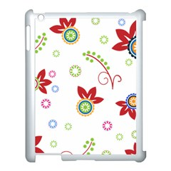 Floral Flower Rose Star Apple Ipad 3/4 Case (white)