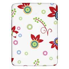 Floral Flower Rose Star Samsung Galaxy Tab 3 (10 1 ) P5200 Hardshell Case  by Alisyart