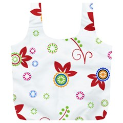 Floral Flower Rose Star Full Print Recycle Bags (l)  by Alisyart