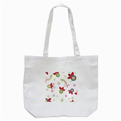 Floral Flower Rose Star Tote Bag (white) by Alisyart