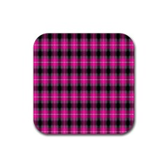 Cell Background Pink Surface Rubber Square Coaster (4 Pack)  by Simbadda