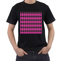 Cell Background Pink Surface Men s T Shirt (black) (two Sided) by Simbadda