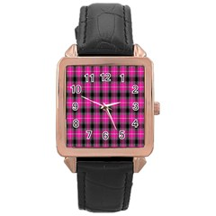 Cell Background Pink Surface Rose Gold Leather Watch  by Simbadda