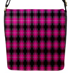 Cell Background Pink Surface Flap Messenger Bag (s) by Simbadda