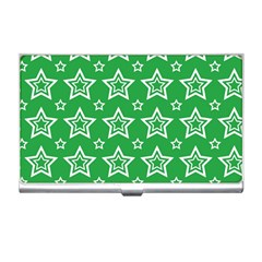 Green White Star Line Space Business Card Holders by Alisyart