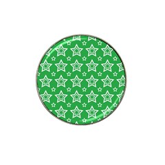 Green White Star Line Space Hat Clip Ball Marker (10 Pack) by Alisyart