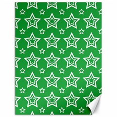 Green White Star Line Space Canvas 18  X 24   by Alisyart