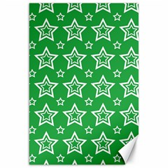 Green White Star Line Space Canvas 20  X 30   by Alisyart