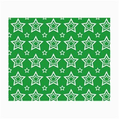 Green White Star Line Space Small Glasses Cloth (2-side) by Alisyart