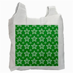 Green White Star Line Space Recycle Bag (one Side)