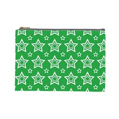 Green White Star Line Space Cosmetic Bag (large)  by Alisyart