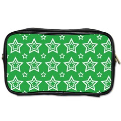 Green White Star Line Space Toiletries Bags by Alisyart