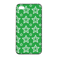 Green White Star Line Space Apple Iphone 4/4s Seamless Case (black)