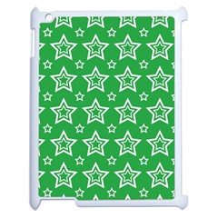 Green White Star Line Space Apple Ipad 2 Case (white) by Alisyart