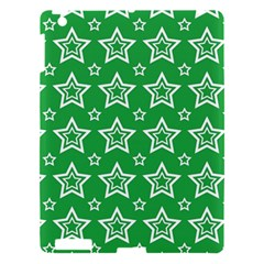 Green White Star Line Space Apple Ipad 3/4 Hardshell Case by Alisyart