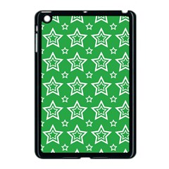 Green White Star Line Space Apple Ipad Mini Case (black) by Alisyart