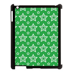 Green White Star Line Space Apple Ipad 3/4 Case (black) by Alisyart