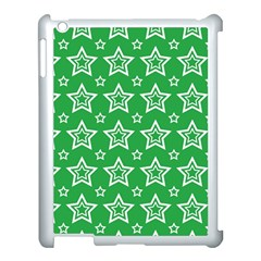 Green White Star Line Space Apple Ipad 3/4 Case (white)
