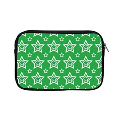 Green White Star Line Space Apple Ipad Mini Zipper Cases by Alisyart