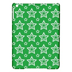 Green White Star Line Space Ipad Air Hardshell Cases by Alisyart