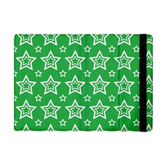 Green White Star Line Space Ipad Mini 2 Flip Cases by Alisyart