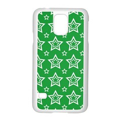 Green White Star Line Space Samsung Galaxy S5 Case (white)