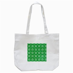 Green White Star Line Space Tote Bag (white)