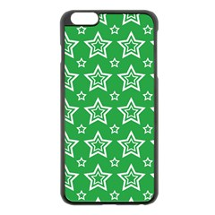 Green White Star Line Space Apple Iphone 6 Plus/6s Plus Black Enamel Case